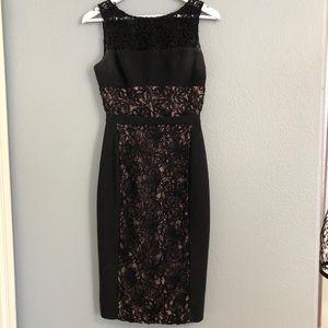 Black halo black pencil dress size 2
